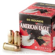 50 Rounds of 230gr FMJ .45 ACP Ammo by Federal American Eagle (Trayless)