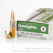 200 Rounds of 120gr OTFB .300 AAC Blackout Ammo by Remington
