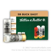 10 Rounds of  #1 Buck 12ga Ammo by Sellier & Bellot