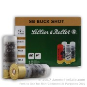250 Rounds of  #4 Buck 12ga Ammo by Sellier & Bellot
