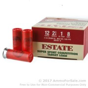 25 Rounds of 1 ounce #8 shot 12ga Ammo by Estate Cartridge