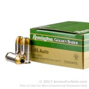 25 Rounds of 230gr JHP .45 ACP Ammo by Remington
