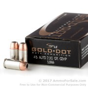 50 Rounds of 230gr JHP .45 ACP Ammo by Speer