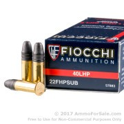 50 Rounds of 40gr HP .22 LR Ammo by Fiocchi