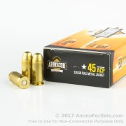 50 Rounds of 230gr FMJ .45 ACP Ammo by Armscor