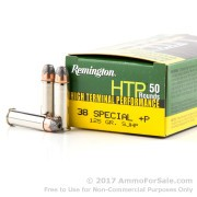 500 Rounds of 125gr SJHP .38 Spl + P Ammo by Remington