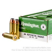 50 Rounds of 180gr JSP .44 Mag Ammo by Remington