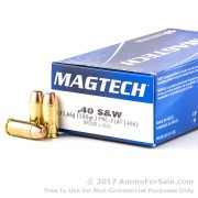 1000 Rounds of 180gr FMJ .40 S&W Ammo by Magtech