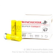 25 Rounds of 7/8 ounce #7 1/2 shot 20ga Ammo by Winchester