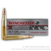 20 Rounds of 150gr PP 30-06 Springfield Ammo by Winchester