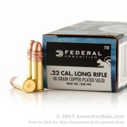 5000 Rounds of 40gr CPRN .22 LR Ammo by Federal