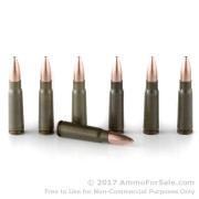 20 Rounds of 123gr HP 7.62x39mm Ammo by Brown Bear