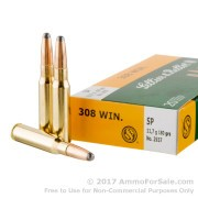 20 Rounds of 180gr SP .308 Win Ammo by Sellier & Bellot
