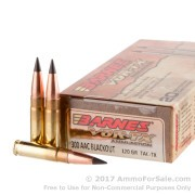 20 Rounds of 120gr Polymer Tipped .300 AAC Blackout Ammo by Barnes VOR-TX