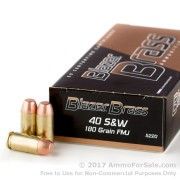 50 Rounds of 180gr FMJ .40 S&W Ammo by Blazer