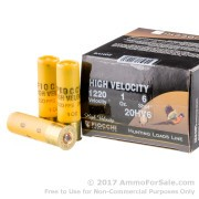 25 Rounds of 1 ounce #6 shot 20ga Ammo by Fiocchi