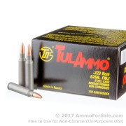 100 Rounds of 62 Grain FMJ .223 Ammo by Tula