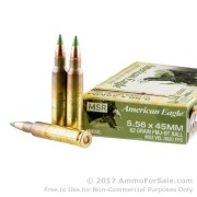 500  Rounds of 62gr FMJ 5.56x45 Ammo by Federal American Eagle