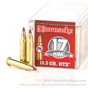 50 Rounds of 15.5gr Polymer Tipped .17HMR Ammo by Hornady