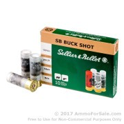 10 Rounds of  #4 Buck 12ga Ammo by Sellier & Bellot