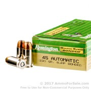 50 Rounds of 230gr JHP .45 ACP Ammo by Remington Golden Saber Bonded