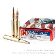 20 Rounds of 180gr SP 30-06 Springfield Ammo by Hornady American Whitetail