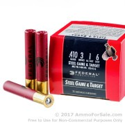 """25 Rounds of 3"""" 3/8 oz. #6 shot .410 Ammo by Federal Steel Game & Target"""