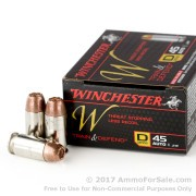 20 Rounds of 230gr JHP .45 ACP Ammo by Winchester W Train & Defend