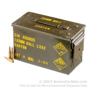540 Rounds of 146gr FMJ .308 Win Ammo in M2A1 Can by Malaysian Military Surplus