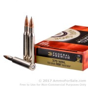 20 Rounds of 130gr Nosler Partition SP .270 Win Ammo by Federal Vital-Shok