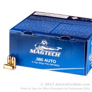 250 Rounds of 95gr FMJ .380 ACP Ammo by Magtech
