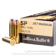 50 Rounds of 158gr SP .357 Mag Ammo by Sellier & Bellot