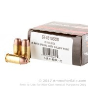 20 Rounds of 155gr Frangible HP .45 ACP Ammo by SinterFire Special Duty