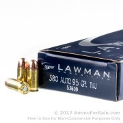 1000 Rounds of 95gr TMJ .380 ACP Ammo by Speer