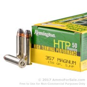 500  Rounds of 158gr SJHP .357 Mag Ammo by Remington