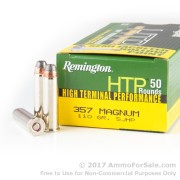 500  Rounds of 110gr SJHP .357 Mag Ammo by Remington