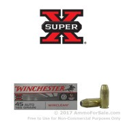 50 Rounds of 185gr BEB .45 ACP Ammo by Winchester