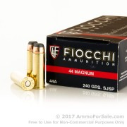 500 Rounds of 240gr JSP .44 Mag Ammo by Fiocchi