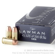 50 Rounds of 200gr TMJ .45 ACP + P Ammo by Speer Lawman