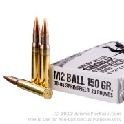 400 Rounds of 150gr FMJ 30-06 Springfield M1 Garand Ammo by Sellier & Bellot