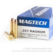 50 Rounds of 158gr FMC .357 Mag Ammo by Magtech