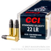 100 Rounds of 40gr LRN .22 LR Ammo by CCI