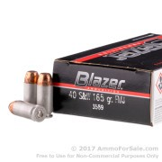 50 Rounds of 165gr TMJ .40 S&W Ammo by CCI