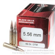 50 Rounds of 69gr OTM 5.56x45 Ammo by Black Hills Ammunition