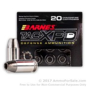 20 Rounds of +P 185gr SCHP .45 ACP Ammo by Barnes TAC-XPD