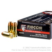 1000 Rounds of 180gr FMJ .40 S&W Ammo by Fiocchi