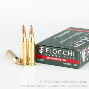 200 Rounds of 70gr PSP .243 Win Ammo by Fiocchi
