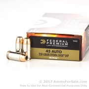 1000 Rounds of 230gr JHP .45 ACP Ammo by Federal