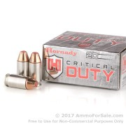 200 Rounds of 220gr JHP .45 ACP +P Ammo by Hornady Critical Duty