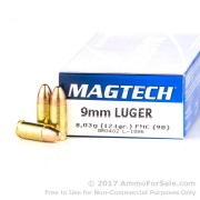 50 Rounds of 124gr FMC 9mm Ammo by Magtech